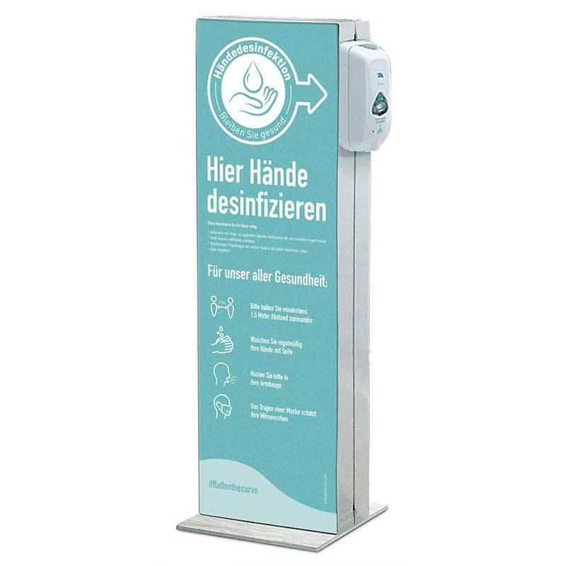 Desinfektionssäule zur Händedesinfizierung